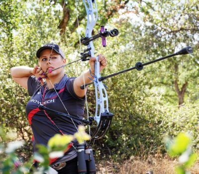 Paige Pearce excels in archery.