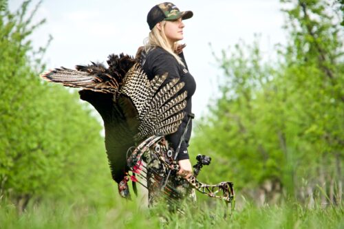 Paige Pearce hunting with Sportsman's Warehouse equipment