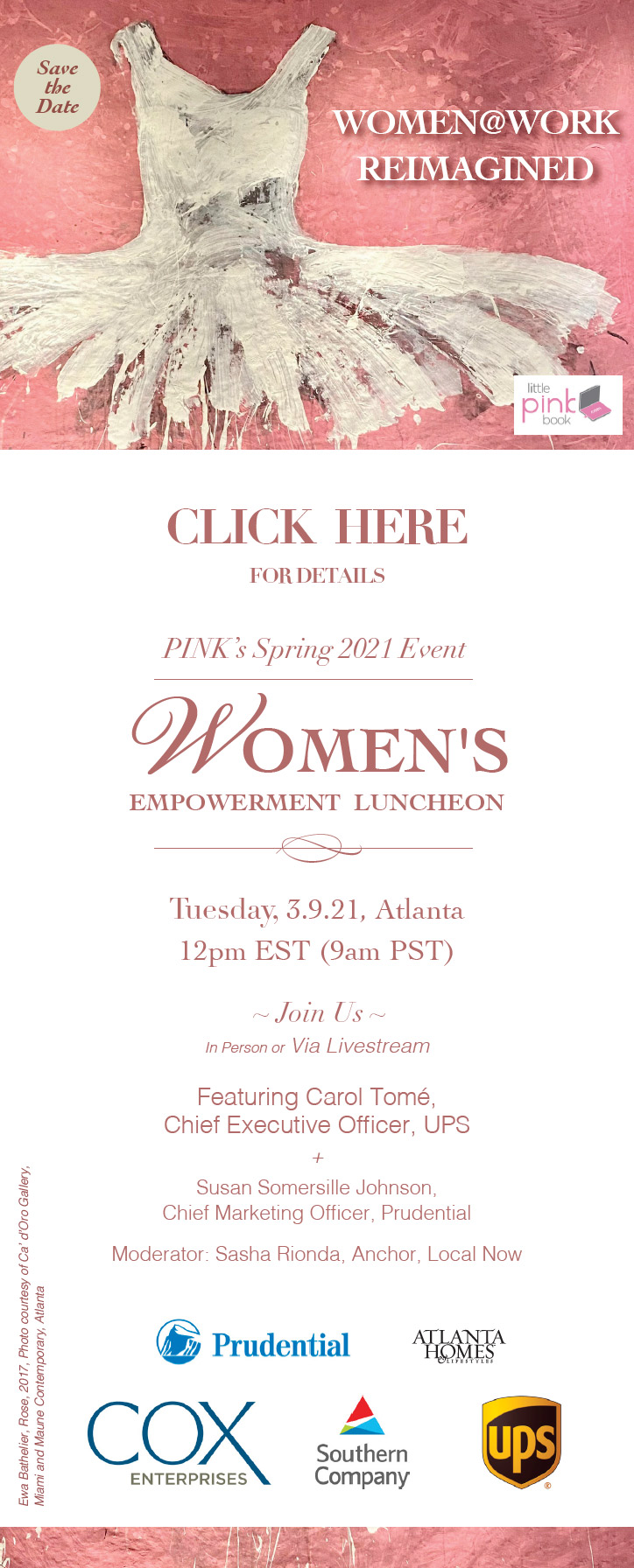 Pink Spring Empower Event Website Banner 160x600